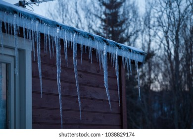 Icicles on the cabin