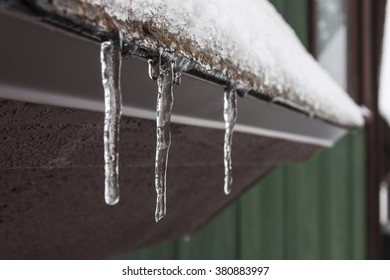 Icicles on an eave