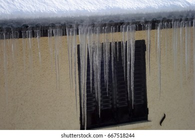 Icicles on a window