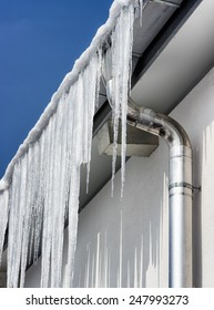icicles at a roof