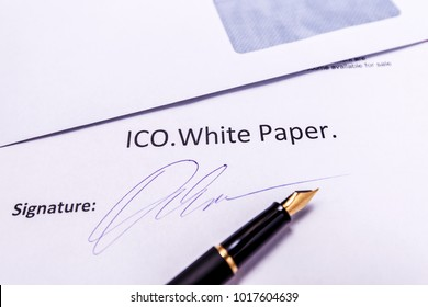 ICO White paper - one of the main documents for Initial coin offering. Roadmap for funding new projects and startups
