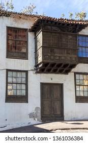 Icod Spain. 03-05-2019. Typical old houses at Icod de los Vinos in Tenerife. Canary Islands. Spain.