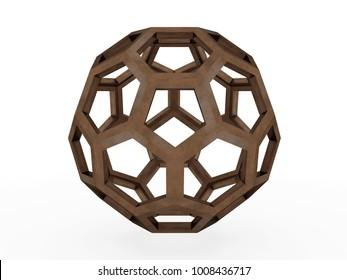 Icofaedron, Leonardo da Vinci. 3D model