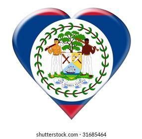 Icon of Belize. Illustration over white background