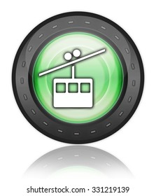 Icon, Button, Pictogram with Aerial Tramway symbol