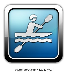 Icon, Button, Pictogram with Kayaking symbol