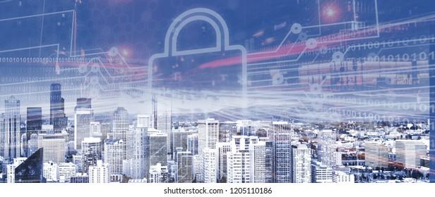 Icon city digital lock internet of things
