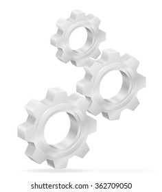 icon gear illustration isolated on white background