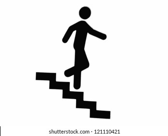 Man Walking Down Stairs Images Stock Photos Amp Vectors