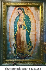 Icon of Our Lady of Guadalupe (Virgin of Guadalupe) in Mexico city - Latin America