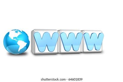 Icon representing the Internet