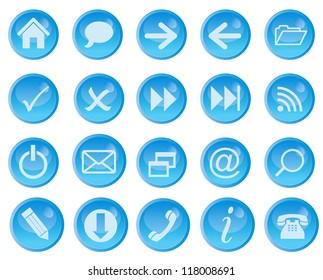 Icon set for web. Raster Version.