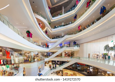 ICON SIAM ,BANGKOK - APR 18: Icon Siam Shopping Mall on April 18, 2019 in Bangkok ,Thailand. Icon Siam is a brand new landmark, located on the Thonburi side of the Chao Phraya River in Bangkok.