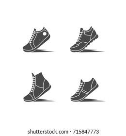 Icon sports shoes set.