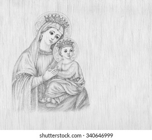 Icon of the Virgin Mary and Jesus