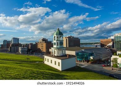 The iconic 120 year old town clock Halifax, an historic landmark of Halifax, Nova Scotia