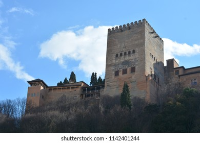 The iconic Alhambra Palace standing mighty over the city