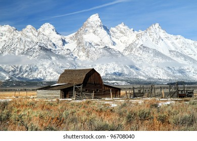 Iconic Barn in Grand Teton National park