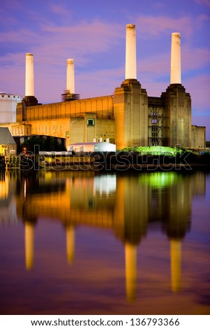 The iconic Battersea Power