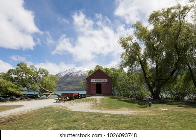 Iconic Boat house in Glenorchy, New Zealand
