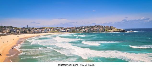 Iconic Bondi beach in Sydney, Australia