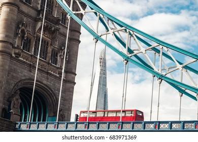 The iconic bridge in the city of London, UK