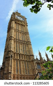 Iconic British Building - the bell tower of the Houses of Parliament