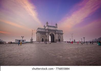 Iconic Gateway of India just before sunrise