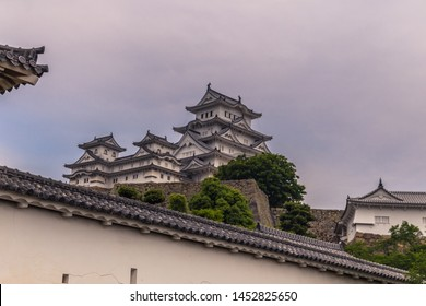 The iconic Himeji Castle in the region of Kansai, Japan
