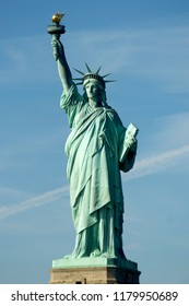 The iconic and historic Statue of Liberty in New York's Liberty Island