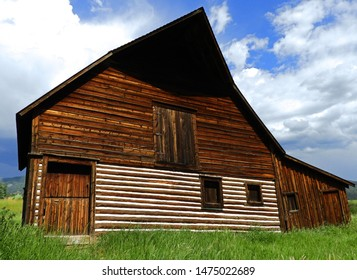 the iconic and historical  more barn in steamboat springs, colorado on a  summer day