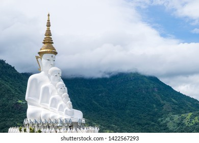 The iconic hot-spots view of Wat Pha Sorn Kaew, Buddhist monastery and temple in Khao Kho, Phetchabun, Thailand