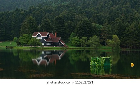 An Iconic House at Golcuk Natural Park, Bolu Province, Turkey, May 20th 2018