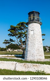 The iconic lighthouse at Buckroe Beach in Hampton, Virginia.  The only remaining relic of an amusement park which closed in 1985.