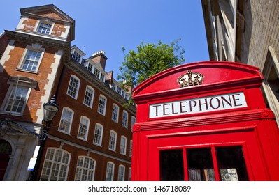 The iconic Red Telephone Box in London.
