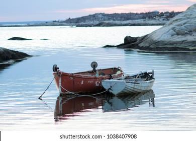 Iconic scene at Peggy's Cove, Nova Scotia.