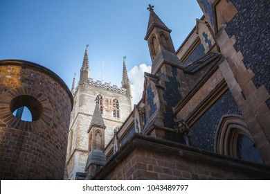 The Iconic Southwark Cathedral next to Borough Market in London