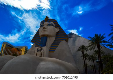 The iconic Sphinx outside the Luxor Hotel, Las Vegas, Nevada, USA