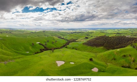 The iconic Strzelecki Ranges near the town of Loch on the Bass Coast in Victoria, Australia