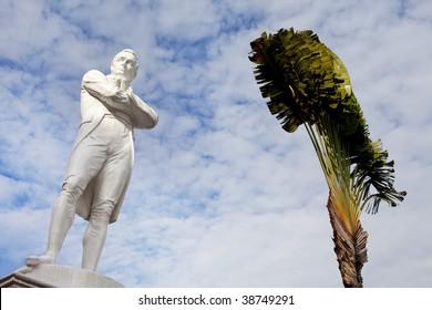 Iconic tourism symbol of Singapore, Sir Stamford Raffles Statue