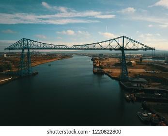 The  iconic Transporter Bridge Middlesbrough Teesside