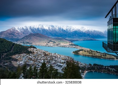 Iconic View of Queenstown from the Skyline | Queenstown, NEW ZEALAND