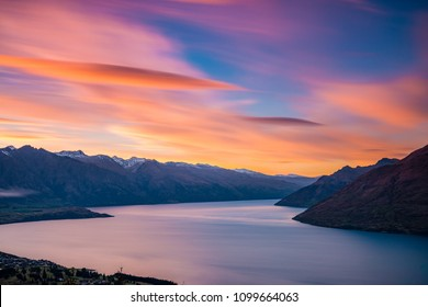 Iconic view of Queenstown from the Skyline at sunrise | Queenstown, NEW ZEALAND