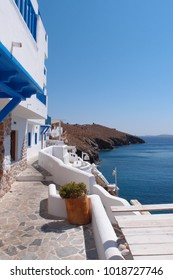 Iconic village of Astypalaia island with views to Aegean sea, Dodecanese, Greece