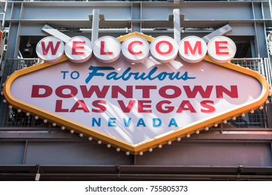 The iconic Welcome to Fabulous Downtown Las Vegas Nevada sign