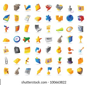 Icons for business, finance and office. Raster version. Vector version is also available.