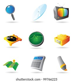 Icons for interface. Raster version. Vector version is also available.