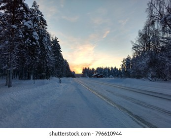 Icy road Finland