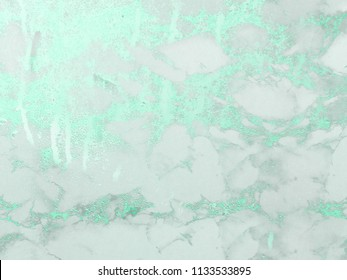 Icy sage marble background. Shiny, glitter and glossy effect for an elegant and fresh wallpaper.