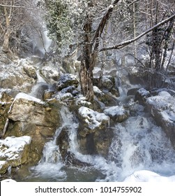 Icy waterfall Skyrim style